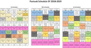 Sample Of Schedules St Andrews Episcopal School Sample Schedule For 2018 2019