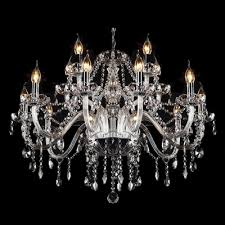 12 light purity and harmony clear crystal chandelier hanging plentiful strands and drops