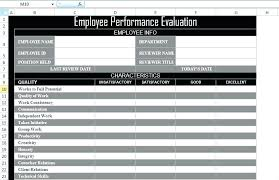 Job Performance Evaluation Form Templates Staff Appraisal Form Template Free Free Employee Evaluation Forms