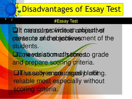 types of essay items 12 disadvantages of essay