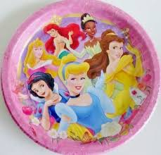 Disney Princess Paper Party Plates - Pack of 8 Full Size