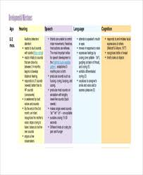 9 Baby Development Chart Free Premium Templates