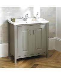 more views braxton stone grey traditional 800mm freestanding 2 door vanity unit