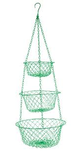 Amazon.com: Fox Run 52103 Three Tier Hanging Wire Baskets, Green: Hanging  Fruit Basket: Kitchen & Dining