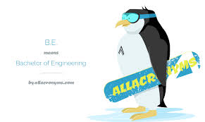 Be Stands For B E Bachelor Of Engineering