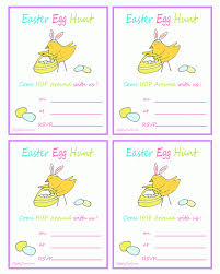 Easter Egg Hunt Printable Invitation With Bunny Chick Ziggity Zoom
