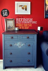 how to decorate furniture. How To Refinish Old Furniture: Decorate Your Place On The Cheap Furniture O