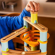 the bamboo builder marble run set for children ages four through ten comes with 119 diffe pieces including 30 marbles a number of bases columns