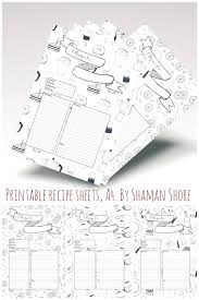 Blank Recipe Cards Fun Printable Templates Happy Planner Sheets