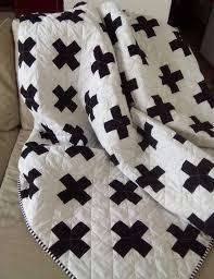 Best 25+ Twin quilt ideas on Pinterest | Quilt blocks, Modern ... & Plus Quilt / Swiss Crosses Quilt / Black & White Quilt / Modern Minimalist  Quilt… Adamdwight.com