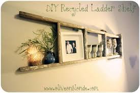 rummy my recycled ladder shelf olive on blonde in wooden ladder shelf