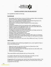 Cook Job Description For Resume Elegant 40 Fresh Retail Job Extraordinary Cook Job Description Resume