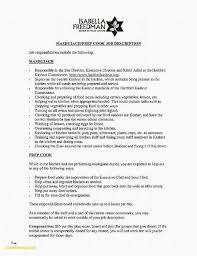 Cook Job Description For Resume Elegant 40 Fresh Retail Job Extraordinary Cook Job Description Resume