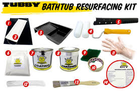 tubby diy bath resurfacing kit contains