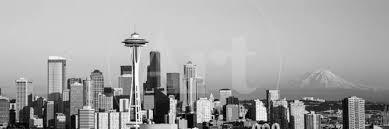 Seattle Cityscape Skyline Seattle Washington State Usa Photographic Print By Art Com