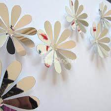 56 wonderful acrylic mirror surface flower design 3d wall sticker