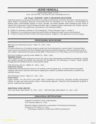 First Grade Teacher Resume Year Sample No Experience Cover Letter