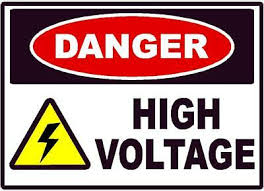 <b>Danger High Voltage</b> Turn Off OSHA Safety Sign Decal Sticker ...