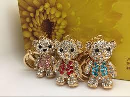 cute bear bag accessories car keychain diamond pendant high grade cartoon gift