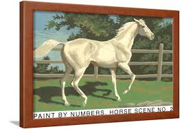 paint by numbers horse scene number two framed print wall art com