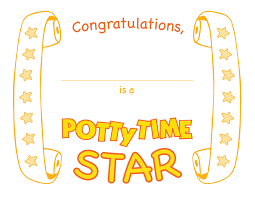 s potty time blog potty time certificate celebrate
