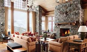 rustic interior design ideas living room. Perfect Living Spacious Rustic Living Room In Interior Design Ideas N