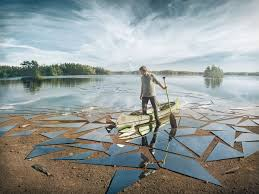 mirror reflection.  Mirror Mirror Glass Broken Lake Impact By Erik Johansson Picture Of The Day  Reflection On Mirror Inside M