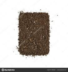 fertile garden. Fertile Garden Soil Texture Background Top View Isolated On White \u2014 Stock Photo A