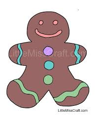 Small Picture Crafts Gingerbread Man 1 Coloring Page