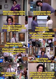 office cliches. The Office. Everyone Tries To Get Phyllis Say Cliches About Rain Office
