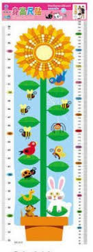 Sunflower Growing Chart Sunflower Growth Height Chart Nursery Kids Height Chart
