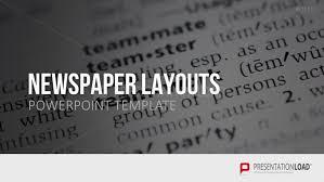 newspaper ppt template presentationload newspaper layouts