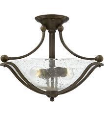 hinkley 4651ob cl bolla 2 light 19 inch olde bronze foyer semi flush mount