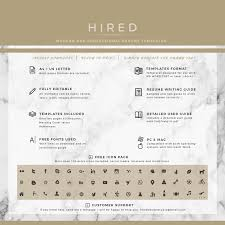 Fonts For Resume Legal Resume Template for MS Word Madison Hired Design Studio 76