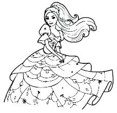 Barbie Coloring Color Pages Printable For Free Princess Colouring