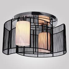 lightinthebox black semi flush mount with 2 lights mini style chandeliers modern ceiling light fixture for hallway dining room living room close to