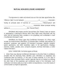 Mutual Confidentiality Agreement Awesome Simple Nda Template Disclosure Agreement Sample Confidentiality Non