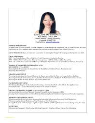 Simple Resume Sample Or Resume Sample For Fresh Graduate Nurse