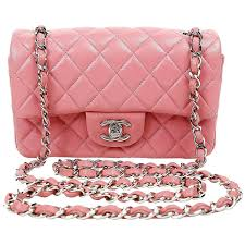 Chanel Raspberry Pink Lambskin Small Classic Flap Bag with Silver ... & Chanel Raspberry Pink Lambskin Small Classic Flap Bag with Silver Hardware  at 1stdibs Adamdwight.com