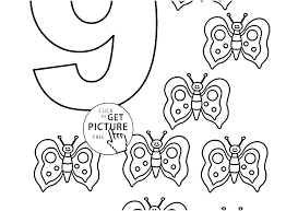 Printable Number Coloring Pages Characters Color By Number Coloring