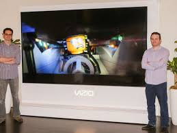 vizio tv 80 inch 4k. cnet\u0027s david katzmaier (left) and ty pendlebury standing on each side of the 120-inch vizio reference series television. sarah tew/cnet tv 80 inch 4k
