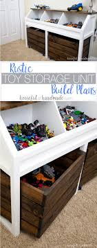Rustic Toy Storage Unit Build Plans