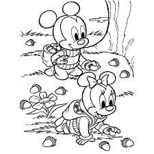 Disegno Di Baby Minnie E Topolino Da Colorare Per Bambini Colorare