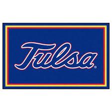 fanmats ncaa university of tulsa blue 4 ft x 6 ft area rug