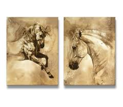 Cheap Horse Posters Buy Youkuart Hq0016 Canvas Wall Art Horse Art Prints