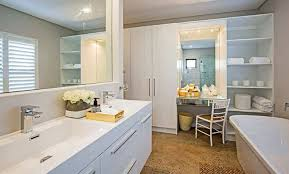 bathroom built in cupboards