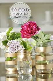 diy mason jar vases diy gold mason jar flower vases best vase projects and