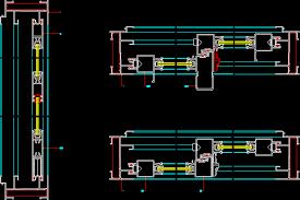 sliding door details in autocad cad