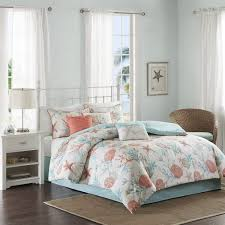 madison park pebble beach cal king size bed comforter set bed in a bag c teal seashell 7 pieces bedding sets cotton bedroom comforters