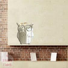 owl office decor. 3D Owl Mirror Wall Sticker Office Decor A